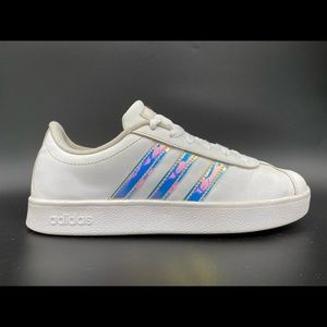 Adidas Grand Court White Shoes Girls Size 3.5